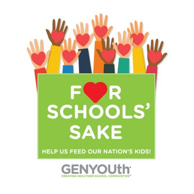 For Schools' Sake Help Us feed our nation's kids campaign logo